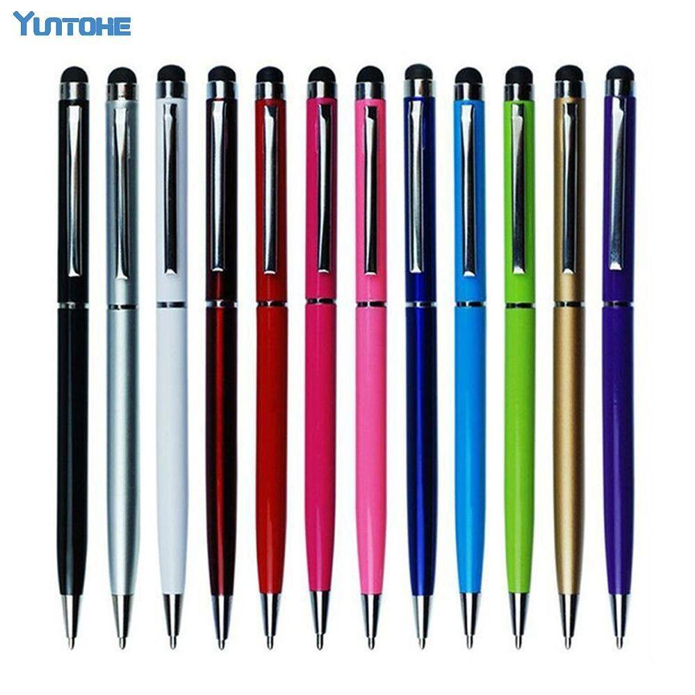 2000 قطعة/الوحدة 2 في 1 الكرة نقطة القلم قلم اللمس لباد آيفون فون Xs ماكس XR X 8 7 6 5 للالهاتف المحمول اللوحي الملونة هدية