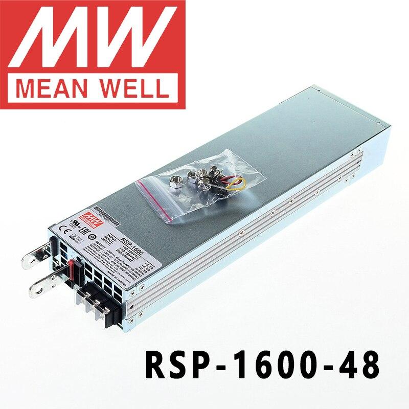 الأصلي يعني جيدا RSP-1600-48 ميانويل 48VDC/0-33.5A/1608 واط إخراج واحد مع وظيفة معامل تصحيح الطاقة امدادات الطاقة