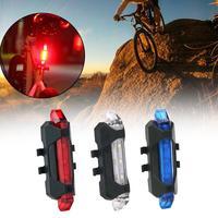 Светильник задний фонарь, водонепроницаемый, с зарядкой через USB, велосипедный задний фонарь, велосипедные аксессуары