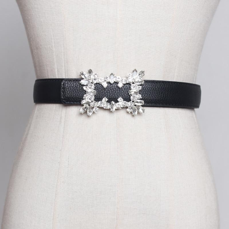 2020 nuevo diseño de cinturón de corsé de ajuste de cristal cinturones de moda para mujeres cinturón sólido de todo-fósforo elegante cintura femenina ZL038
