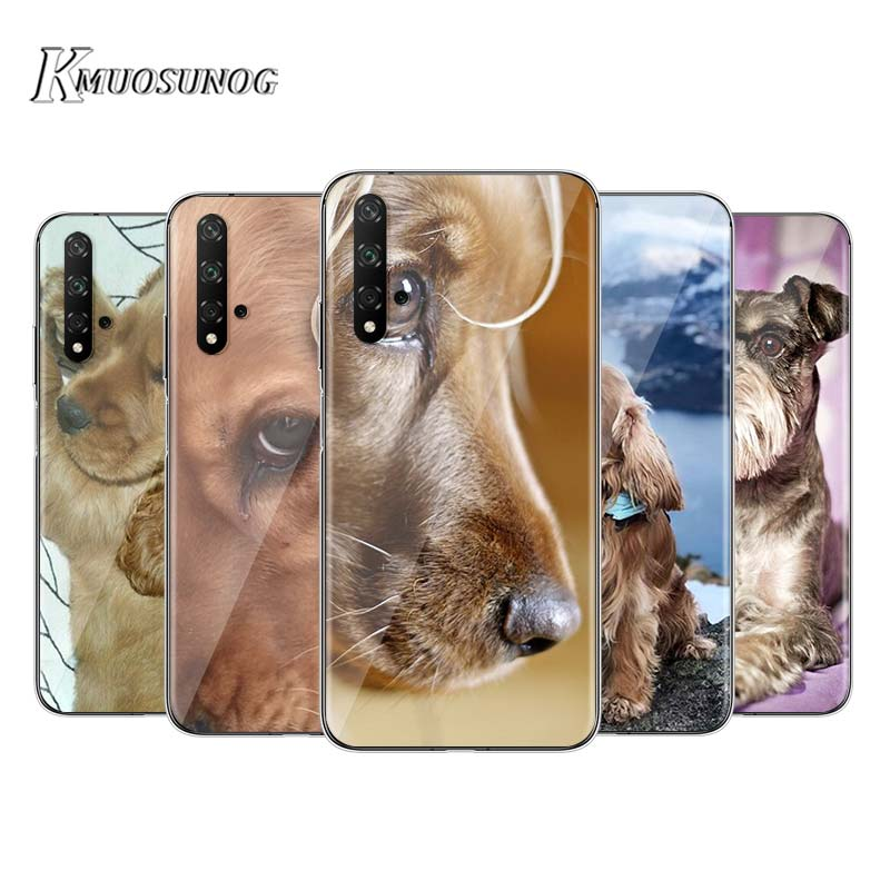 Cocker Spaniel cachorro de perro para Huawei Honor 9S 9A 9C 30 20S 20 10i 9X 8X 10 9 Lite 8A 8C 7C 7A Pro suave de la caja del teléfono de silicona