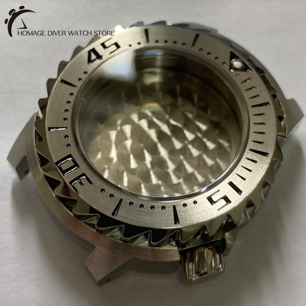High Quality Solid 316L Stainless Steel Watch Case 42.7mm Sapphire Glass 200m Water Resistant Suitable For NH35/36 Movement
