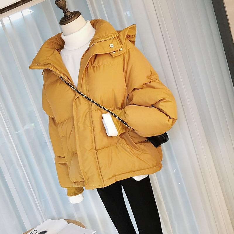 Abrigo corto de algodón con relleno para Mujer, moda Retro gruesa e...