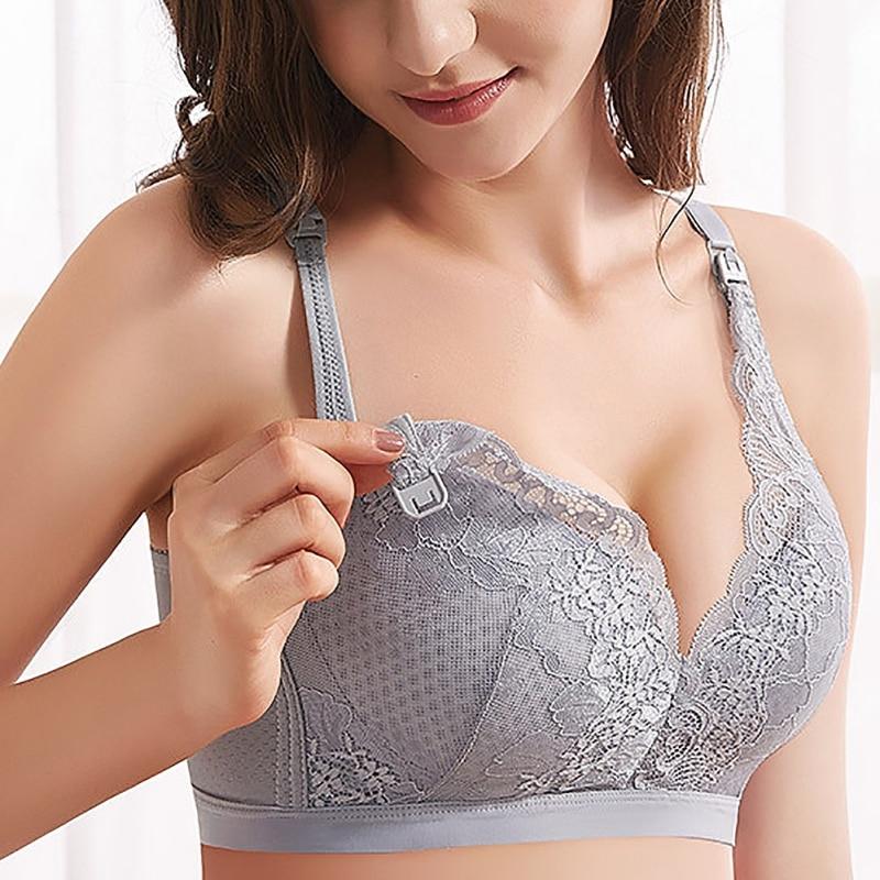Summer Thin Air Permeability Large Size Breast-feeding Bra Cotton Front Opening Button Pregnant Women Underwear Adjustment Bra
