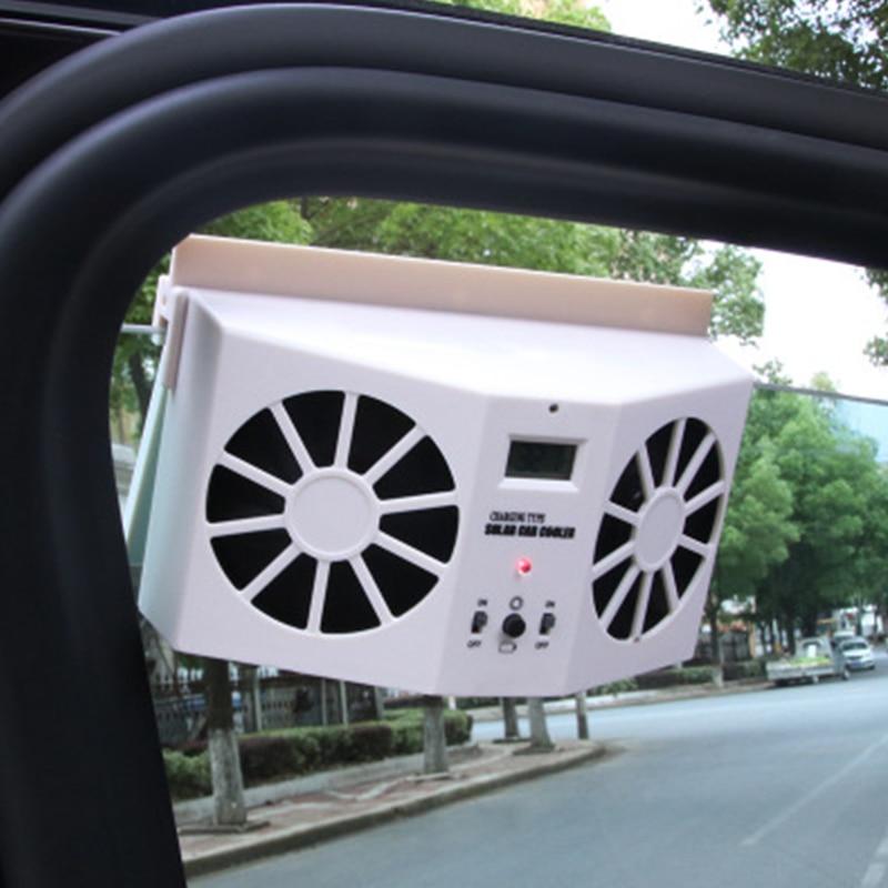 Ventilador de exaustão de veículos de energia solar de alta potência duplo-modo de alimentação de ventilação automática ventilador de carro guelras cooler