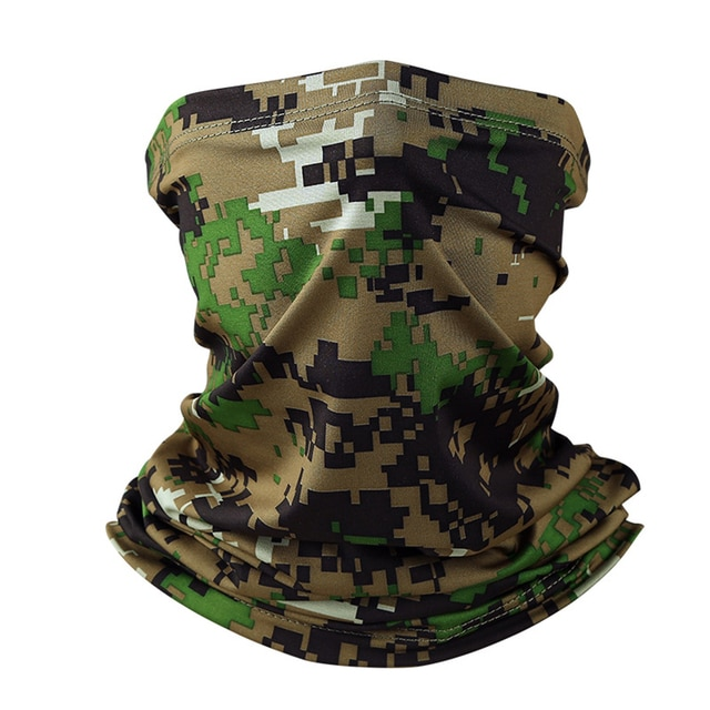 Military Tactical Bandana Summer Face Scarves Tubular Head Mask Scraf Camo Anti-UV Windproof Soft Neck Gaiter Cover Men Women