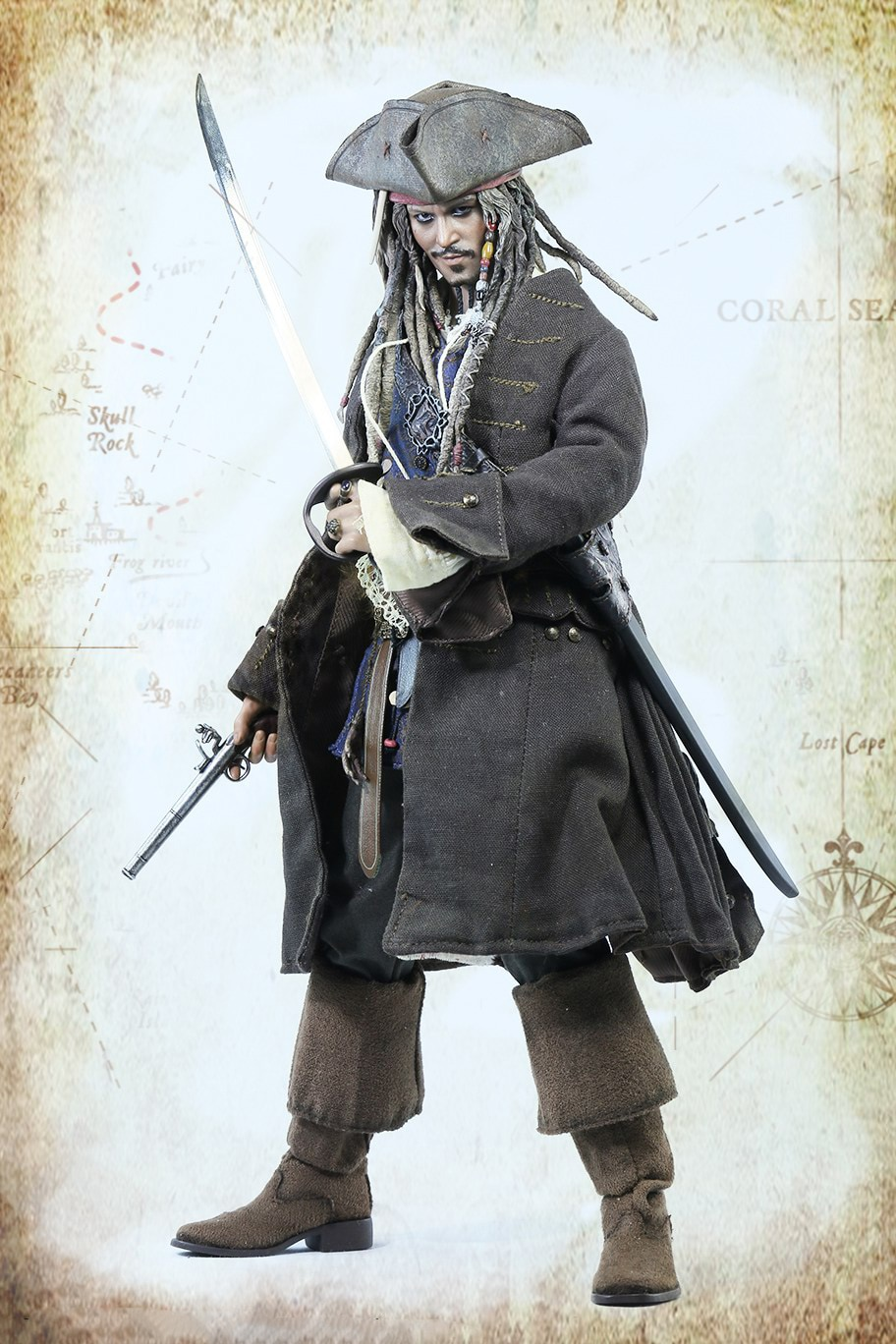 """1/6 Scale Collectible Figures Johnny Depp Captain Jack With 2 Face 12"""" Action Figure Doll Plastic Model Toys Gift"""