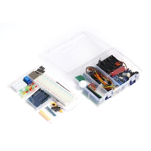 Starter Kit Electronic Project with Sensors Stepper Motor Breadboard Jumper Wire LED Electronics Component for Arduino UNO R3