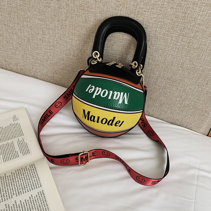 New Design Stitching Color Basketball For Women Purses and Handbags Crossbody Casual Tote Bag Shoulder Daily Female