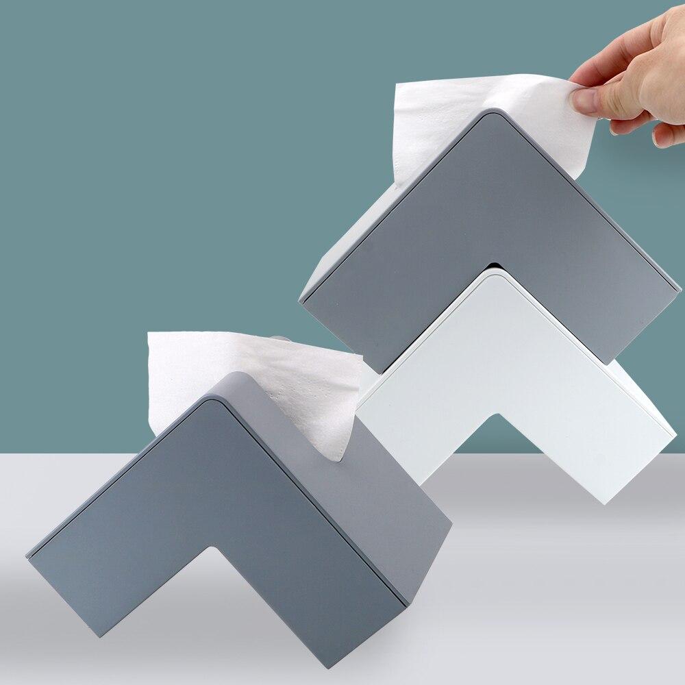 Niceyard criativo nordic caixa de tecido recipiente de papel titular guardanapo caso abertura em ambos os lados para casa de banho decoração