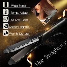 New Hair iron Four-gear temperature adjustment Ceramic Tourmaline Ionic Flat Iron Curling iron Hair