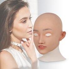 CYOMI réaliste Mature femme Elsa Style Silicone masque de tête pour glisser reine pour crosscommode transgenre cosplay costumes