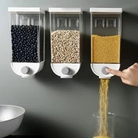food grain storage box home kitchen organizer wall mounted cereal bean rice container oatmeal dispenser 1000ml1500ml