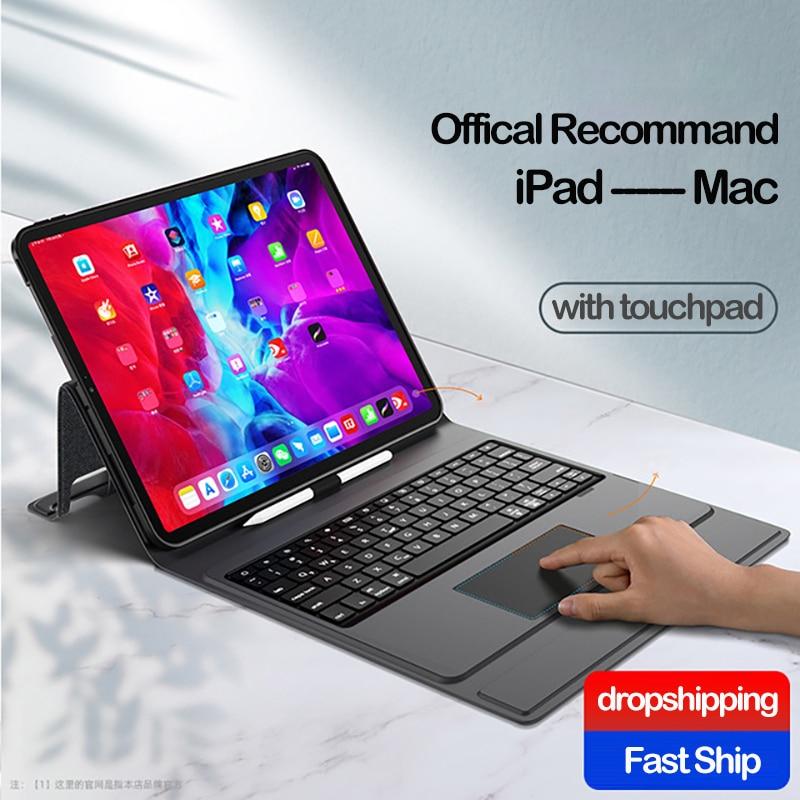 Touchpad para Ipad Case e Teclado para o Ipad de ar Case Teclado 3 2 1 9.7 10.5 Pro 11 12.9 10.2 8th 7th Mini 5 Air 4 2021