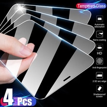 4PCS Full Cover Glass on the For iPhone 11 12 X XS Max XR Tempered Glass For iPhone 7 8 6 Plus 11 12