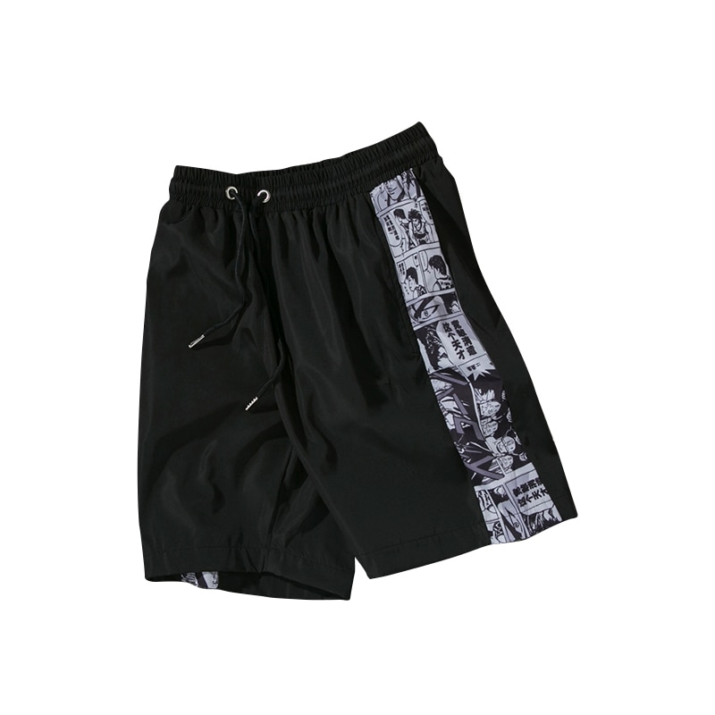 AliExpress - 2021 Men Loose Drawstring Beach Shorts Men Summer Casual Short Hip Hop Anime Shorts Champ Oversized Basketball Sweatpants 5XL