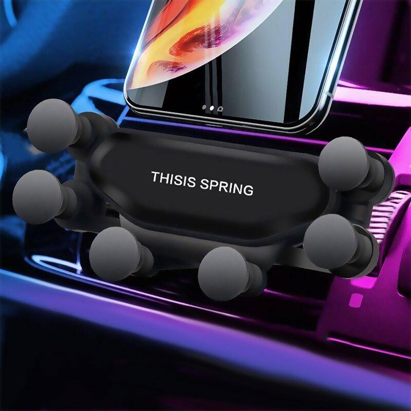 Soporte de coche de gravedad para el soporte de la rejilla de ventilación del teléfono sin soporte magnético para teléfono móvil soporte de móvil para iPhone Samsung xiaomi 10