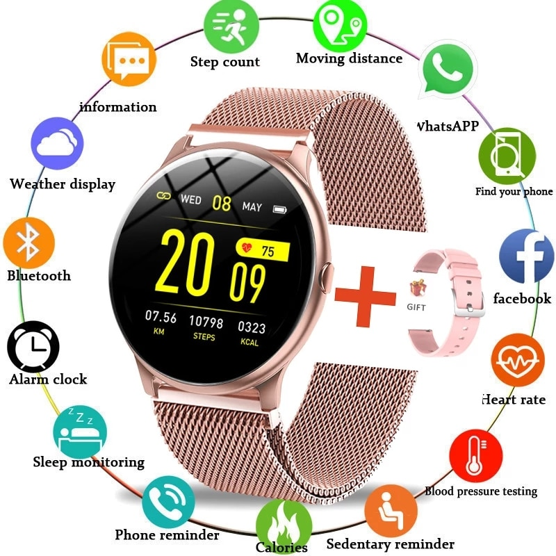 LIGE 2020 New Color Screen Smart Watch Women men Multifunctional Sport Heart Rate Blood Pressure IP6