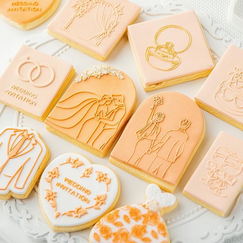 Инструменты для украшения тортов, кухонные аксессуары, кондитерские изделия для счастливой свадьбы, юбилея и пекарни, форма для пастельных ...