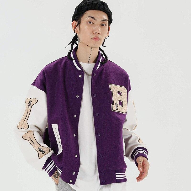 Мужская куртка-бомбер в стиле Харадзюку, куртка-бомбер в стиле пэчворк, 3 цвета