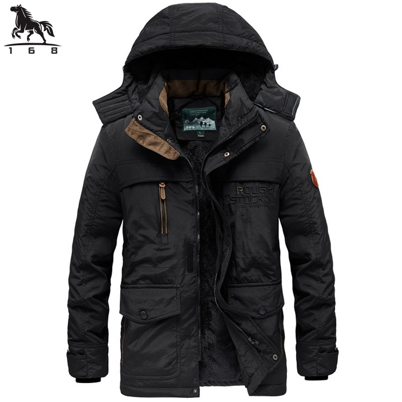 Мужская зимняя куртка с капюшоном, черная утепленная куртка с капюшоном, Повседневная теплая ветровка, 2019