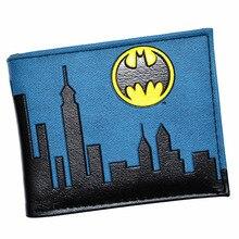 Portefeuille Batman Design Cool DC Justice League sac à main portefeuilles pour hommes de haute qualité avec poche à monnaie