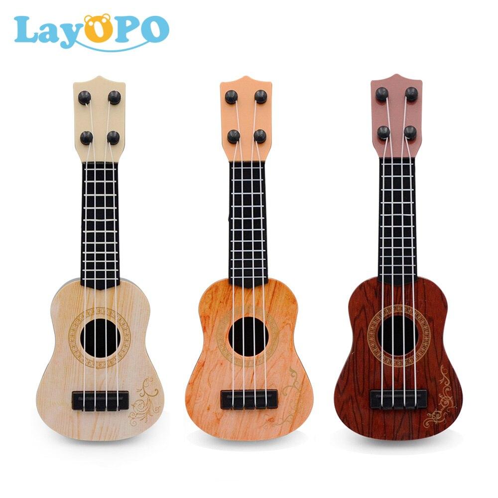 Mini Guitar 4 Strings Classical Ukulele Guitar Toy Musical Instruments for Kids Children Beginners E