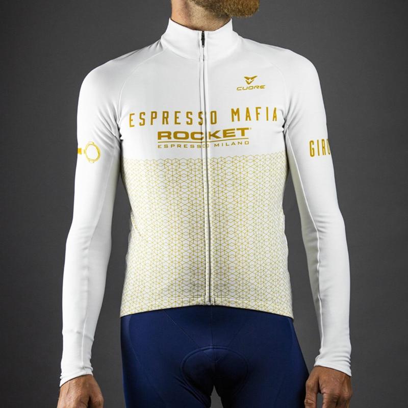 Camiseta de Ciclismo profesional para hombre, chaqueta de manga larga térmica y...