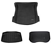 new car tpe rubber rear trunk storage mat front trunk mat floor waterproof tasteless protective pads for tesla model 3 2021 2020