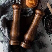 2 шт. набор мельниц для соли и перца, 8 дюймов, антикварная деревянная мельница для соли и перца, набор для приправ, приготовление сервировка