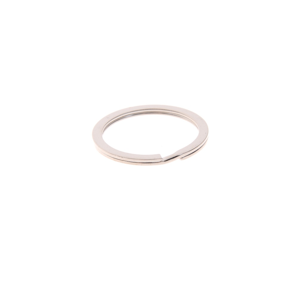 10PCs 1.5x25mm  Silver Tone Split Rings Key Rings