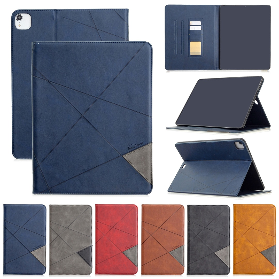 Smart tablet leather case, iPad Pro 12.92020 inch, 12.92018 inch shock mount, inactive function