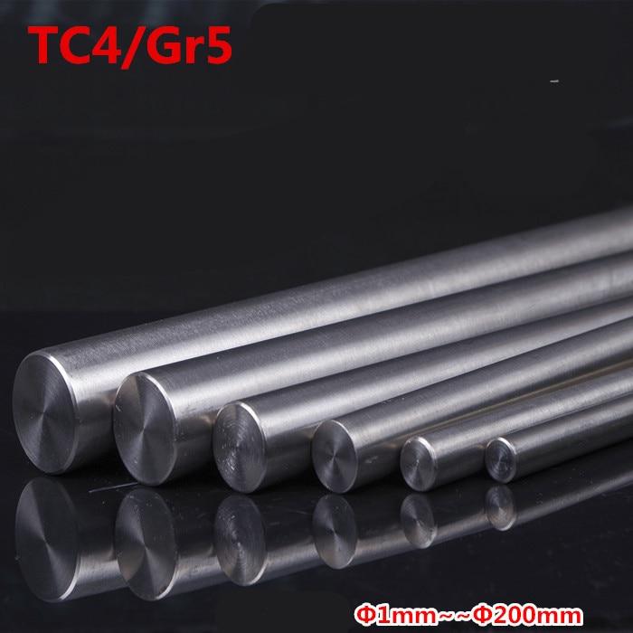 4 шт./лот TC4 Titanium Ti Bar Grade GR5, металлический стержень, диаметр 1 мм-10 мм, длина 250 мм 10 дюймов, для изготовления газовой турбины