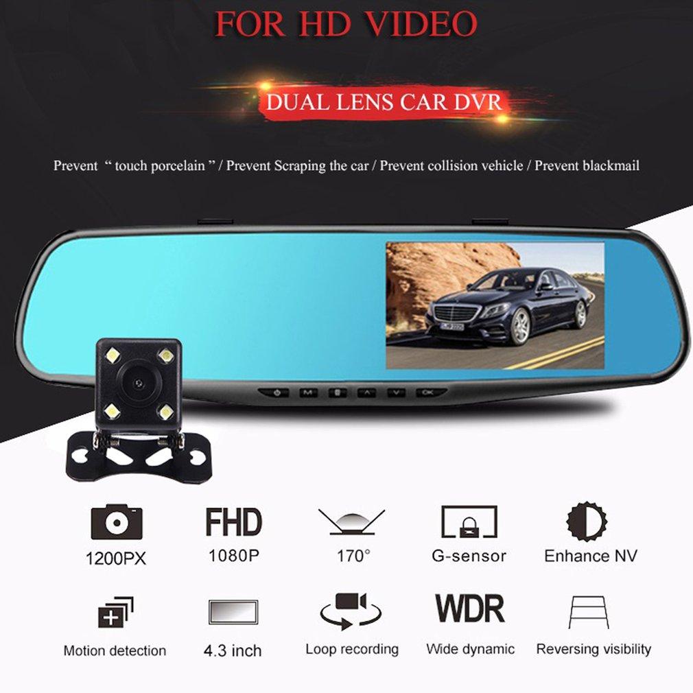 3,5 дюймов Зеркало заднего вида Автомобильный видеорегистратор Камера Hd 1080P зеркало автомобиля видео Регистраторы с заднего вида Камера авт...