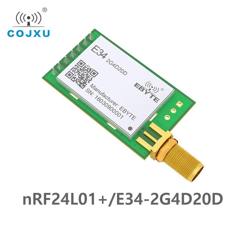 10pcs 2.4GHz nRF24L01P Full Duplex 20dBm Long Range rf Module Wireless Transceiver  nRF24L01 SMA Iot Transmitter E34-2G4D20D