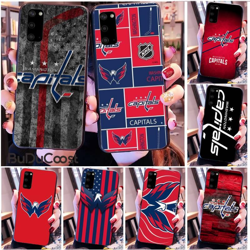 Riccu Washington hockey team badge DIY Phone Case for Samsung S20 plus Ultra S6 S7 edge S8 S9 plus S10 5G