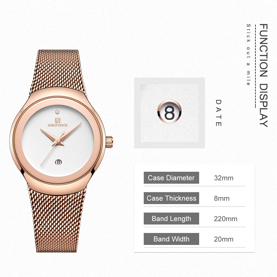NAVIFORCE Sport Watch for Women Fashion Luxury Watches Top Brand Elegant Ladies Wristwatch Casual Quartz Clock zegarek damski enlarge