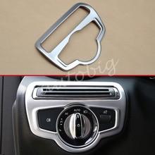 Dashboard Light Switch Cover For Mercedes-Benz GLC C-Class X253 C253 W205 S205 C205 A205 Interior Head Fog Lamp Button Trims