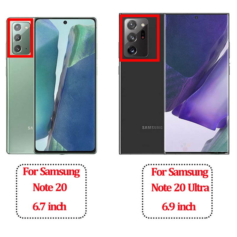 Note 20 Ultra Phone Accessories Original Cases For Samsung Galaxy Note20 Ultra Silicone Case Soft Transparent Airbag Shockproof Protector Covers Galaxy Note 20 S20 Ultra Bumper Case+Soft Camera Lens+Hydrogel Film
