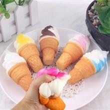 10cm décompression jouets crème glacée cône jouet Simulation gâteau lente montée pain jouets enfants jouer maison libération pression réagir