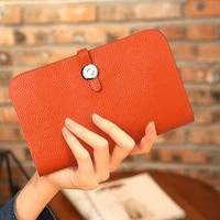 2020 hot sale women wallets fashion litchi grain cowhide leather purse zipper wallet high quality womens wallet and purses bag