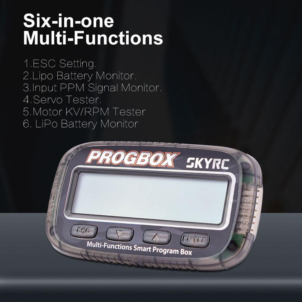 SKYRC PROGBOX Six-in-one Smart Program Box SK-300046 для RC модели ESC установка Lipo батарея монитор тест хобби