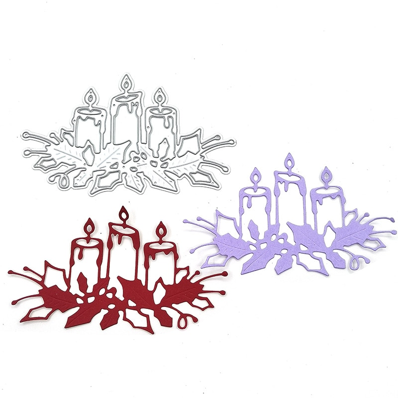 Julyarts Candle Metal Dies Cutting for Scrapbooking New Stencil