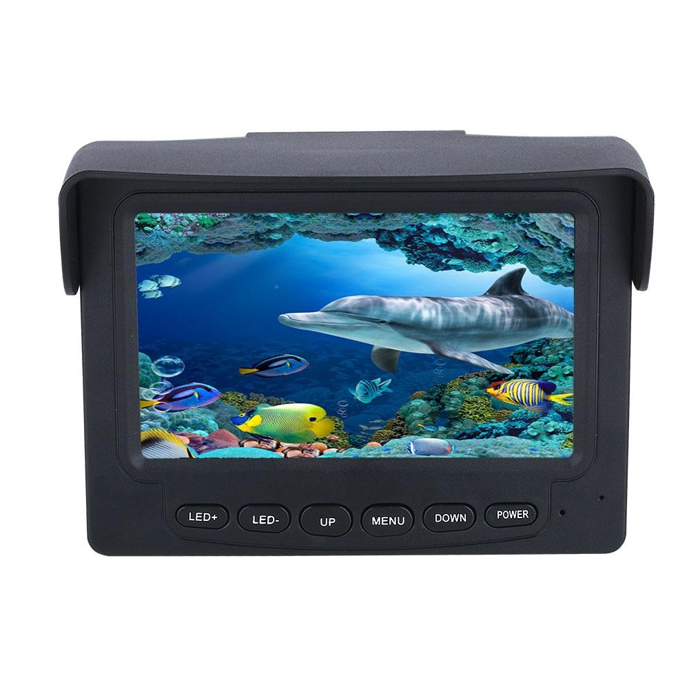 15M 1200TVL Fish Finder Underwater Fishing Camera 4.3 inch Monitor 10PCS LED Night Vision 195 Degrees Camera For Fishing enlarge