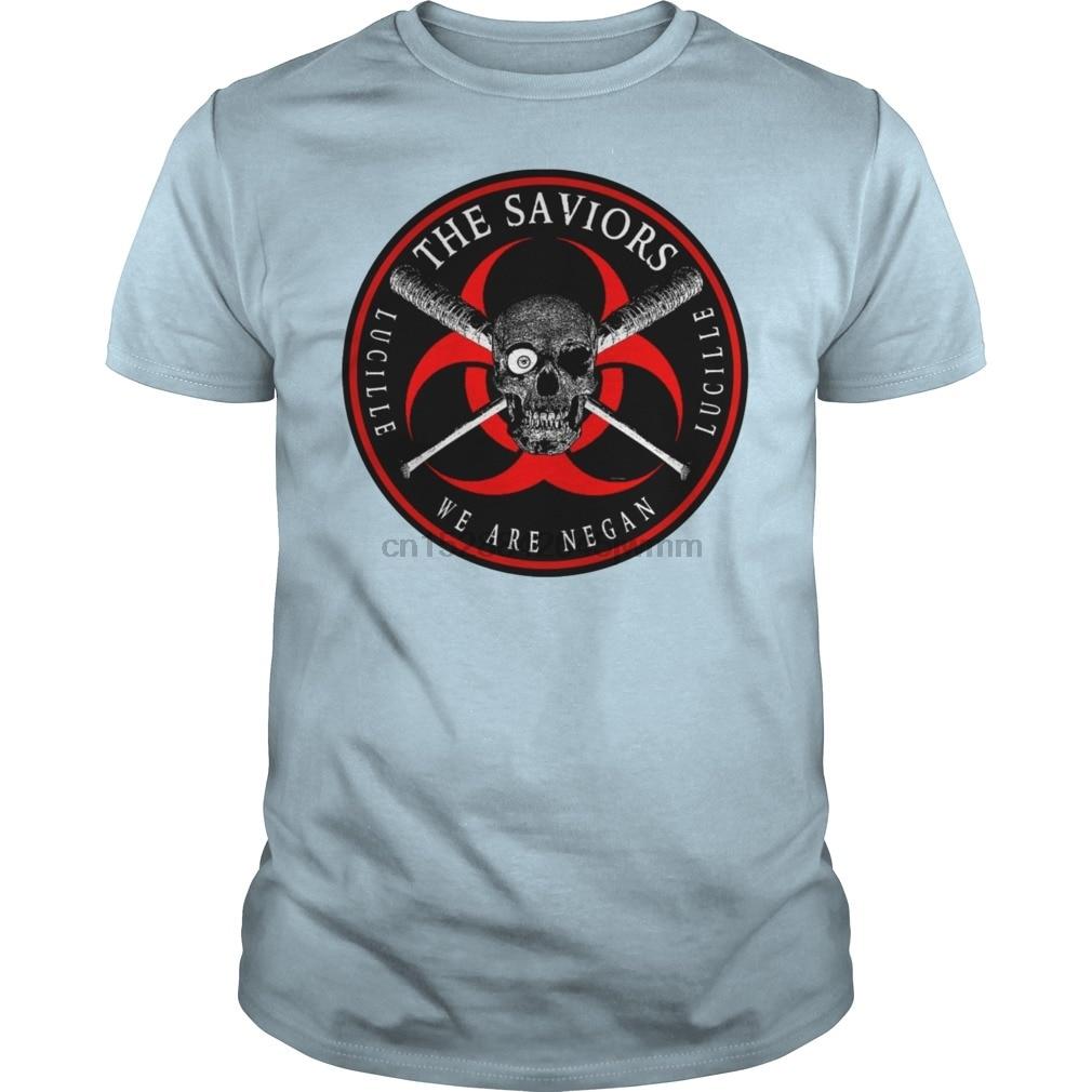 Camiseta de manga corta Biohazard los salvadores somos Negan Ring Patch R Tanks cool camisetas de mujer camiseta