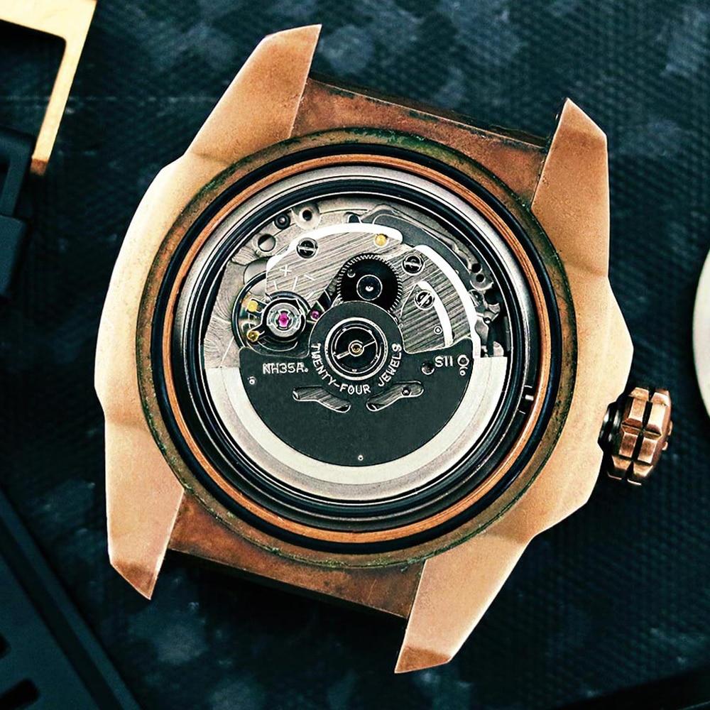 Seiko NH35A Hattori Japan 3 Hand Automatic Watch Ligne Mechanical Movement enlarge