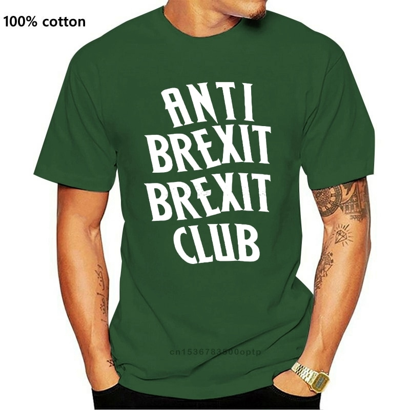 New Anti Brexit Brexit Club T Shirt Premium Cotton Tee Men All Sizes Short-sleeved Print Letters