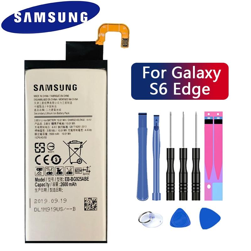 Оригинальный запасной аккумулятор SAMSUNG EB-BG925ABE 2600 мАч для Samsung GALAXY S6 Edge G9250 G925FQ G925F G925S S6Edge G925V G925A