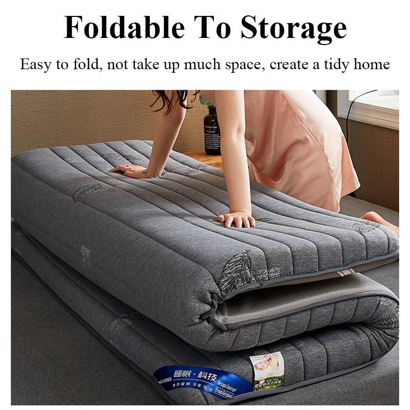 Latex Mattress Natural Pad Folding Mattress Foam with Memory Orthopedic Bed Tatami Sleep Orthopedic Spring