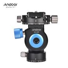 Andoer GT-20R Pan/Tilt Kopf CNC Aluminium Legierung Stativ Einbeinstativ Kopf 360 Grad Rotierenden mit Quick Release Platte für kameras